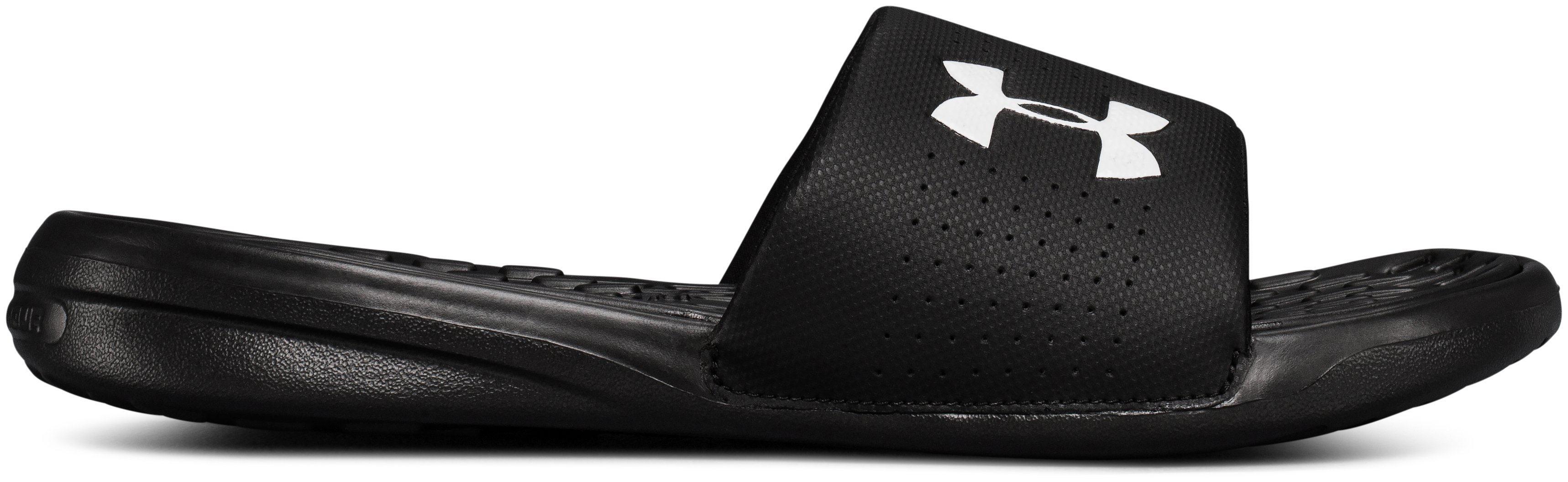 Men's UA Playmaker Fixed Strap Slides, Black