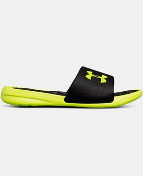 New Arrival Men's UA Playmaker Fixed Strap Slides  1 Color $28