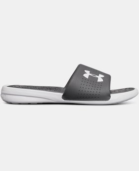 New Arrival Men's UA Playmaker Fixed Strap Slides  2 Colors $28