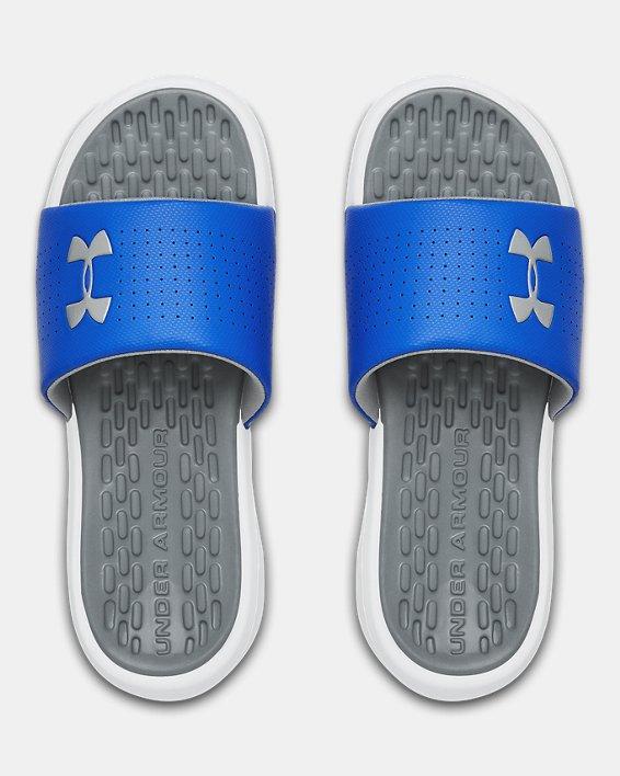 Men's UA Playmaker Fixed Strap Slides, White, pdpMainDesktop image number 3