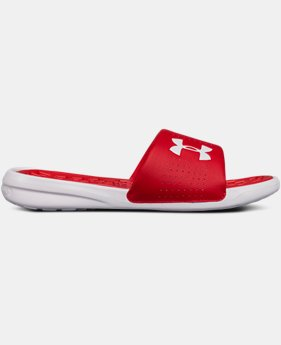Men's UA Playmaker Fixed Strap Slides  4  Colors Available $34.99