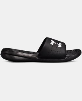 Boys' UA Playmaker Fixed Strap Slides  3  Colors $26