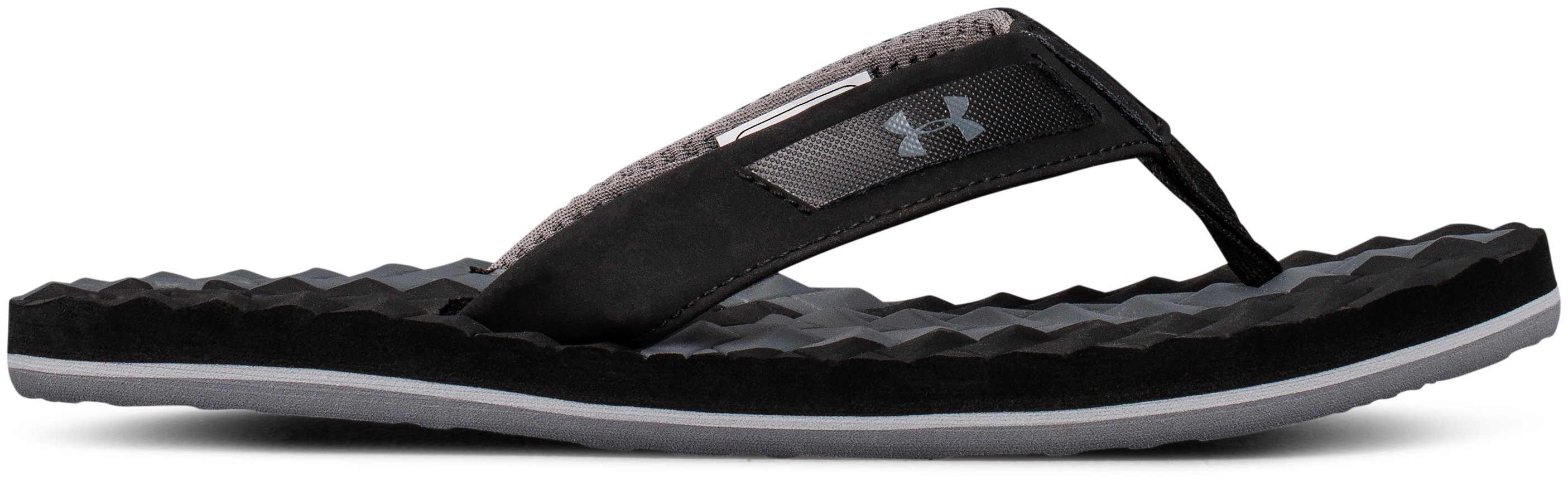 Boys' UA Marathon Key III Slides, Black ,