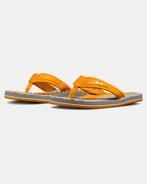 Boys' UA Marathon Key III Slides, Orange, pdpMainDesktop image number 4