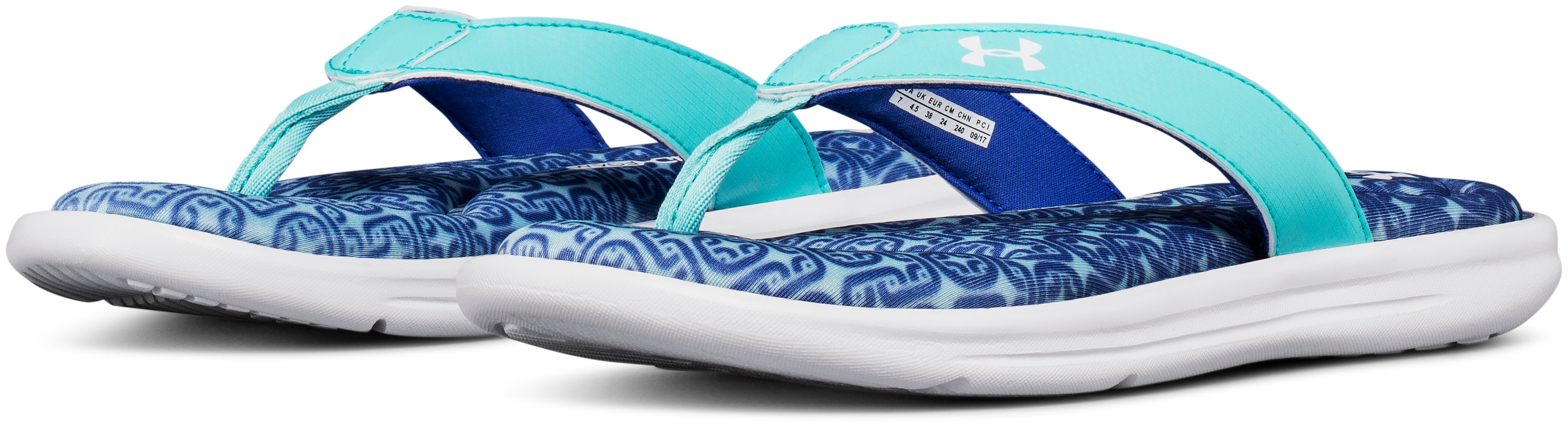 Women's UA Marbella VI Oval Sandals, TROPICAL TIDE,