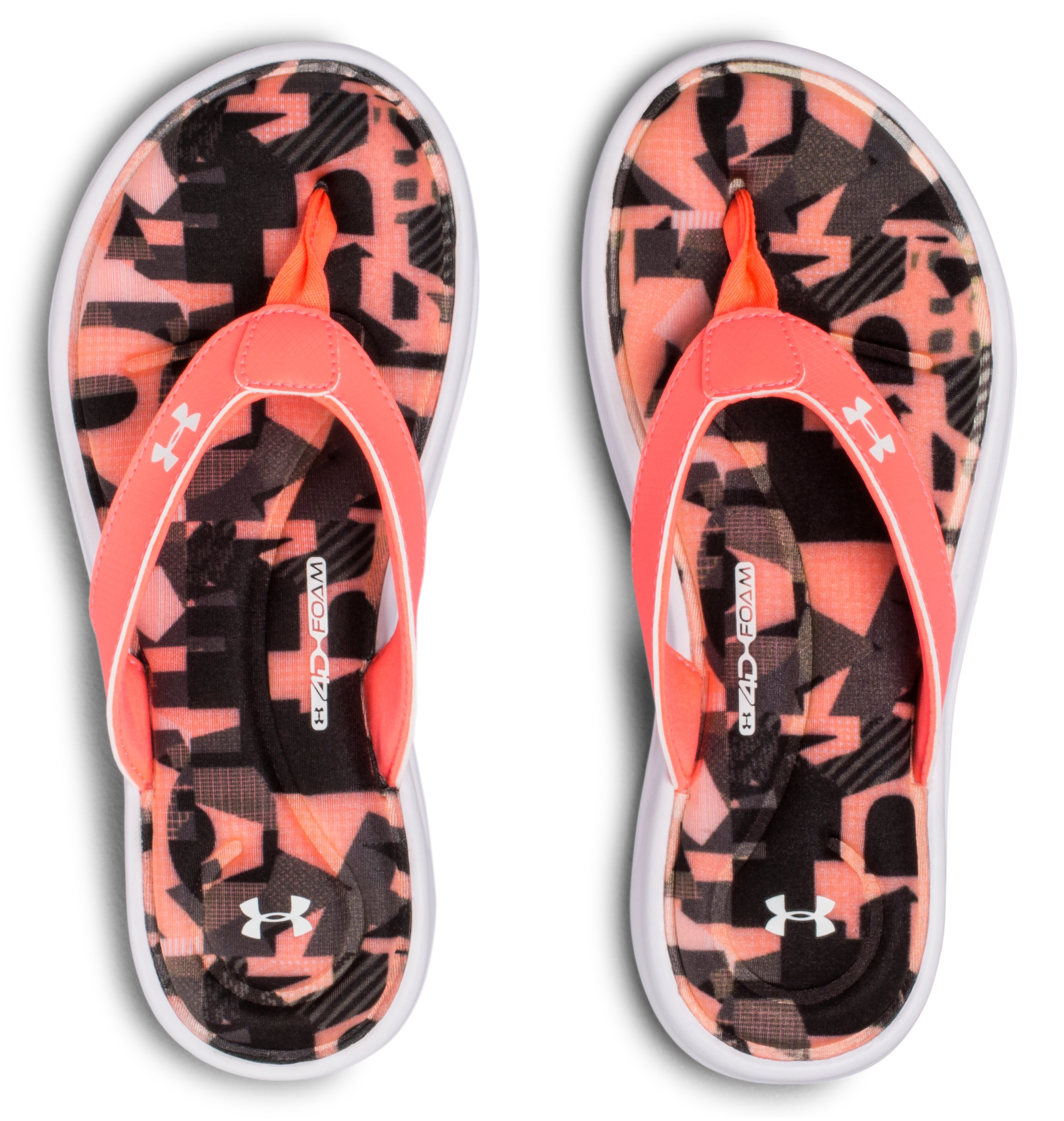 Girls' UA Marbella VI Alpha Sandals, Black ,