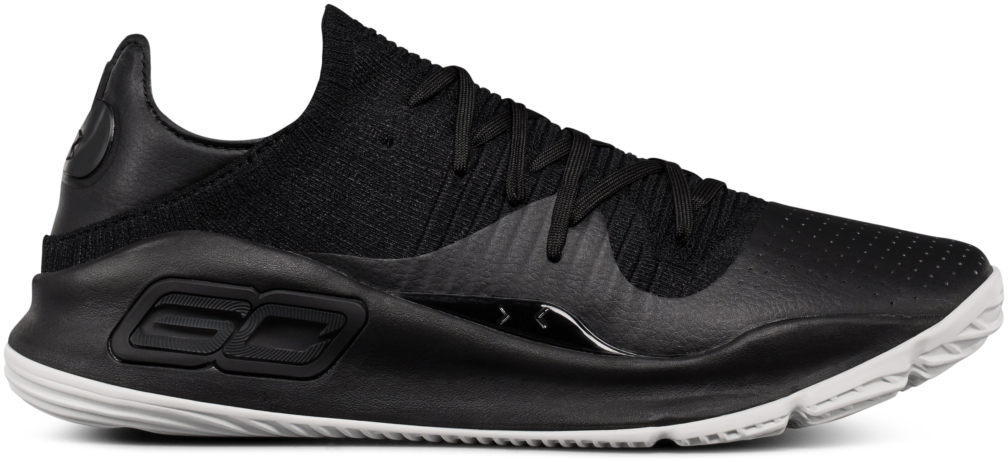 Men's UA Curry 4 Low Basketball Shoes, Black ,