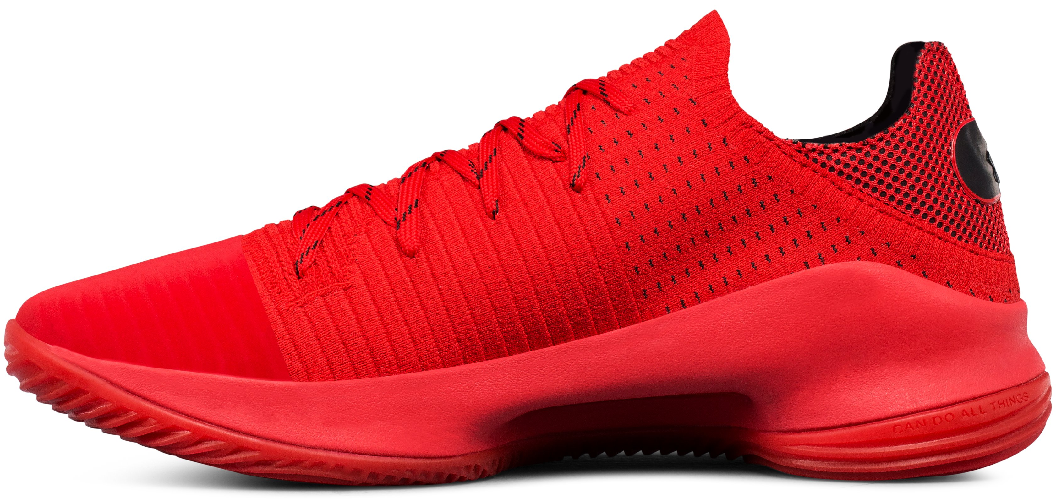 Men's UA Curry 4 Low Basketball Shoes, Red,