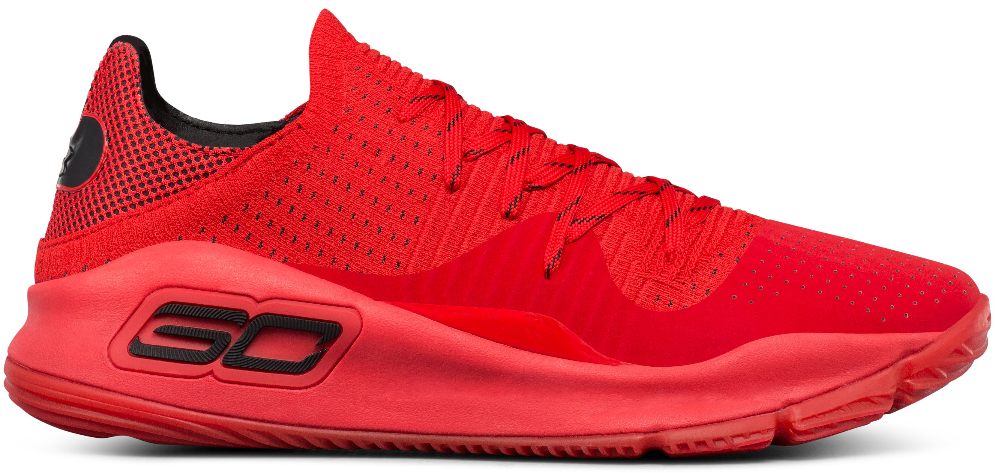 Men's UA Curry 4 Low Basketball Shoes, Red