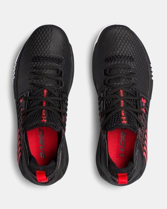 Men's UA Drive 4 Low Basketball Shoes, Black, pdpMainDesktop image number 3