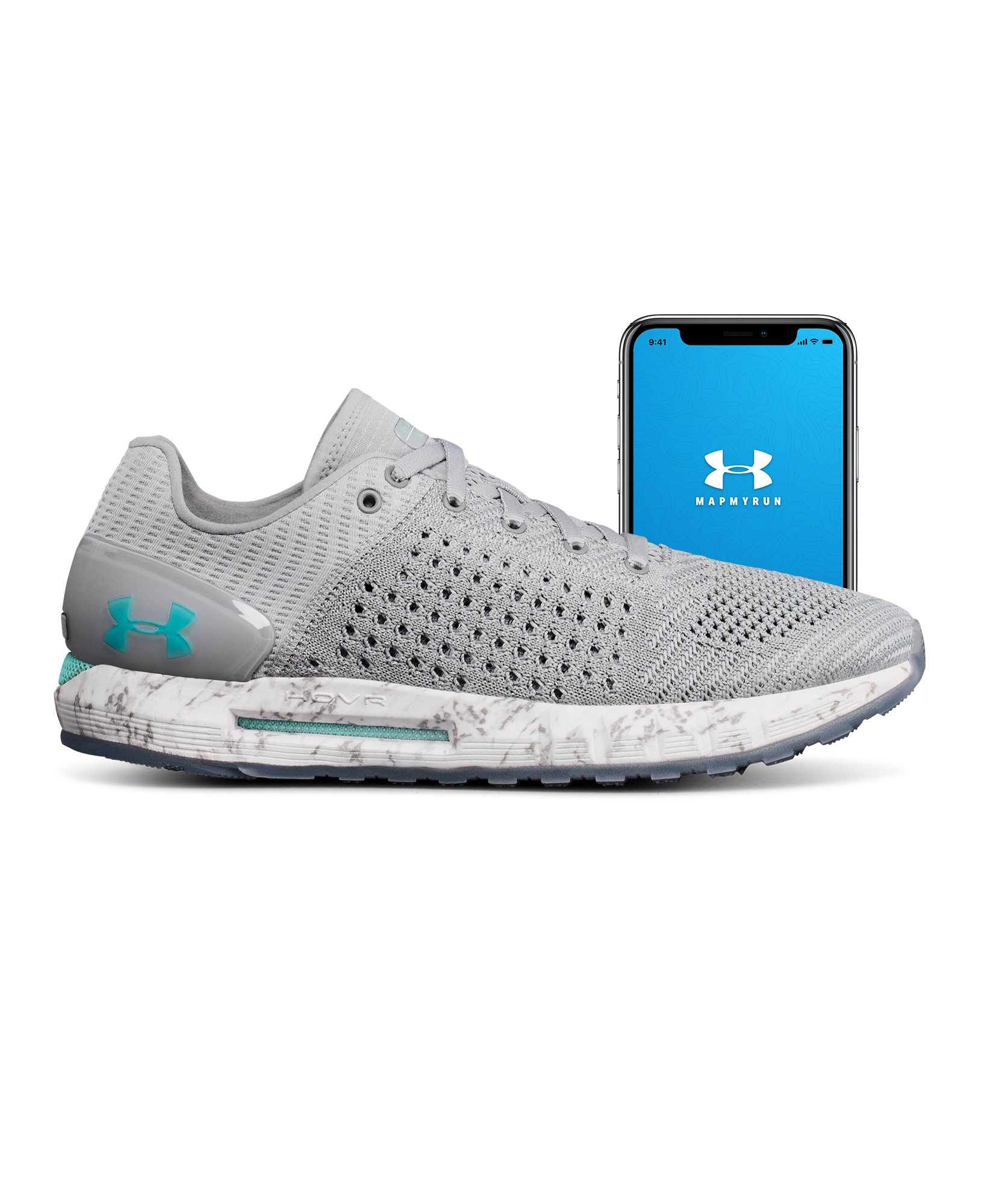 Women's UA HOVR Sonic Connected Running Shoes, OVERCAST GRAY, undefined