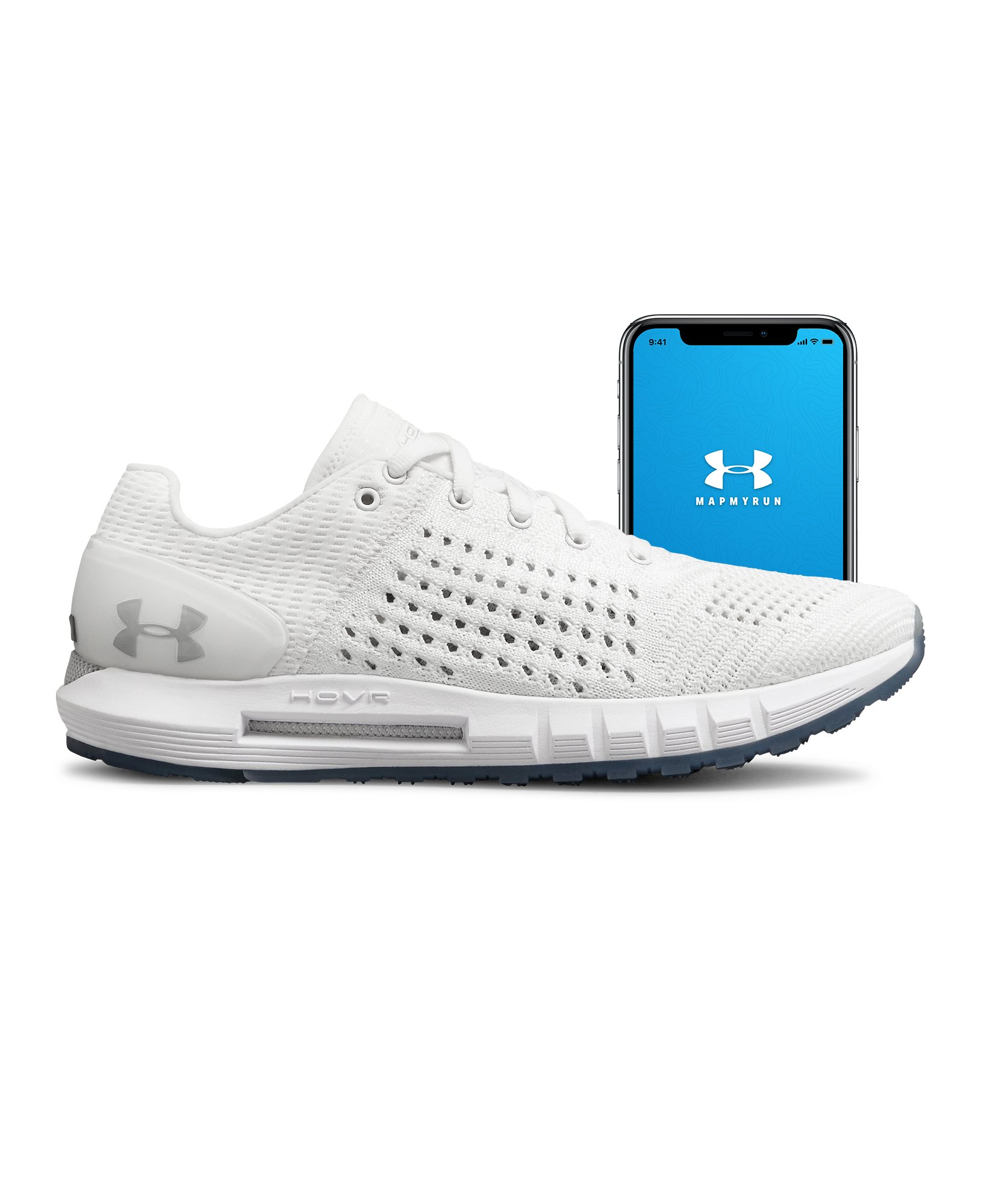 UA W HOVR Sonic CT, White, zoomed