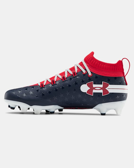 Men's UA Spotlight LE Football Cleats, Red, pdpMainDesktop image number 1