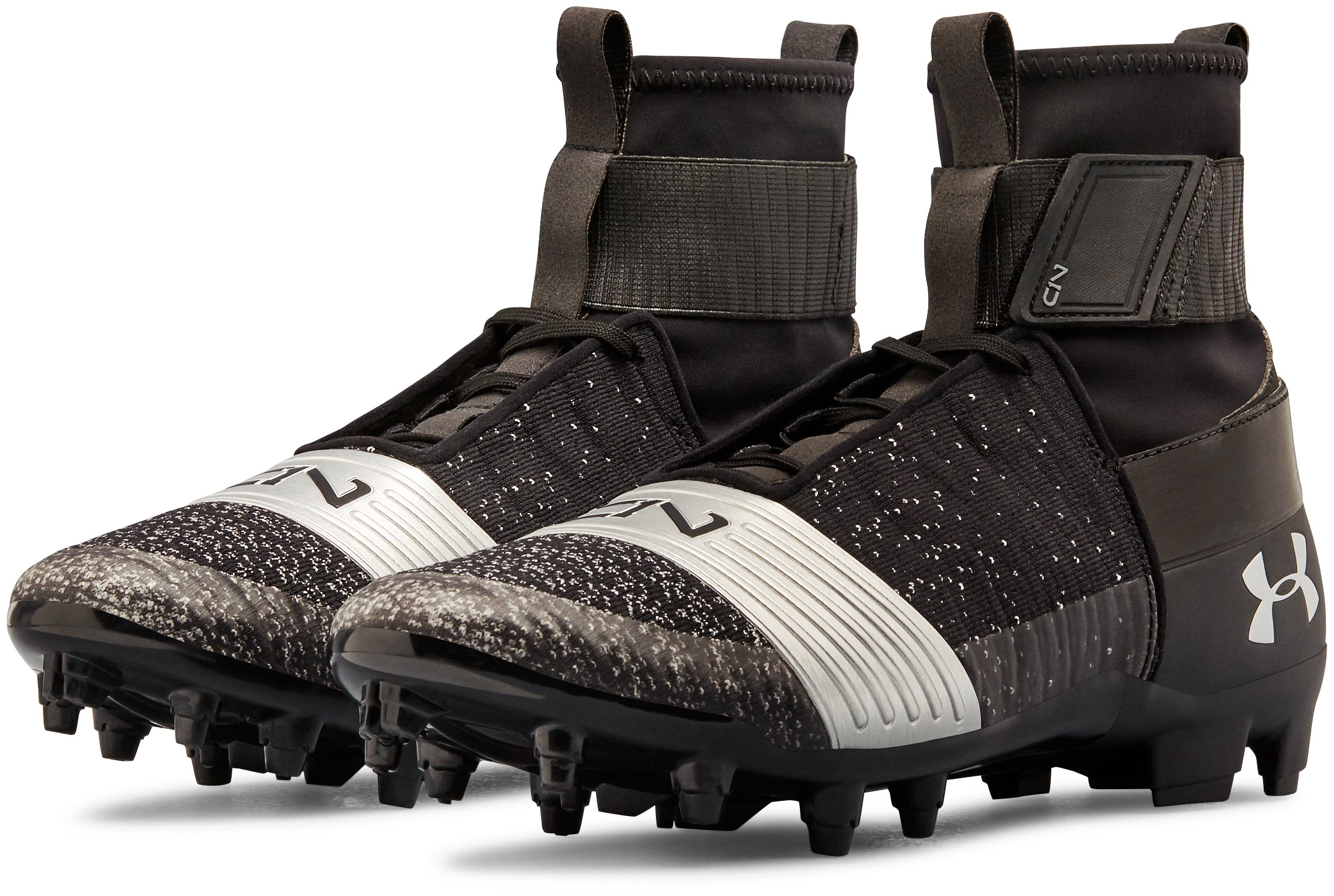 Men's UA C1N MC Football Cleats, Black ,