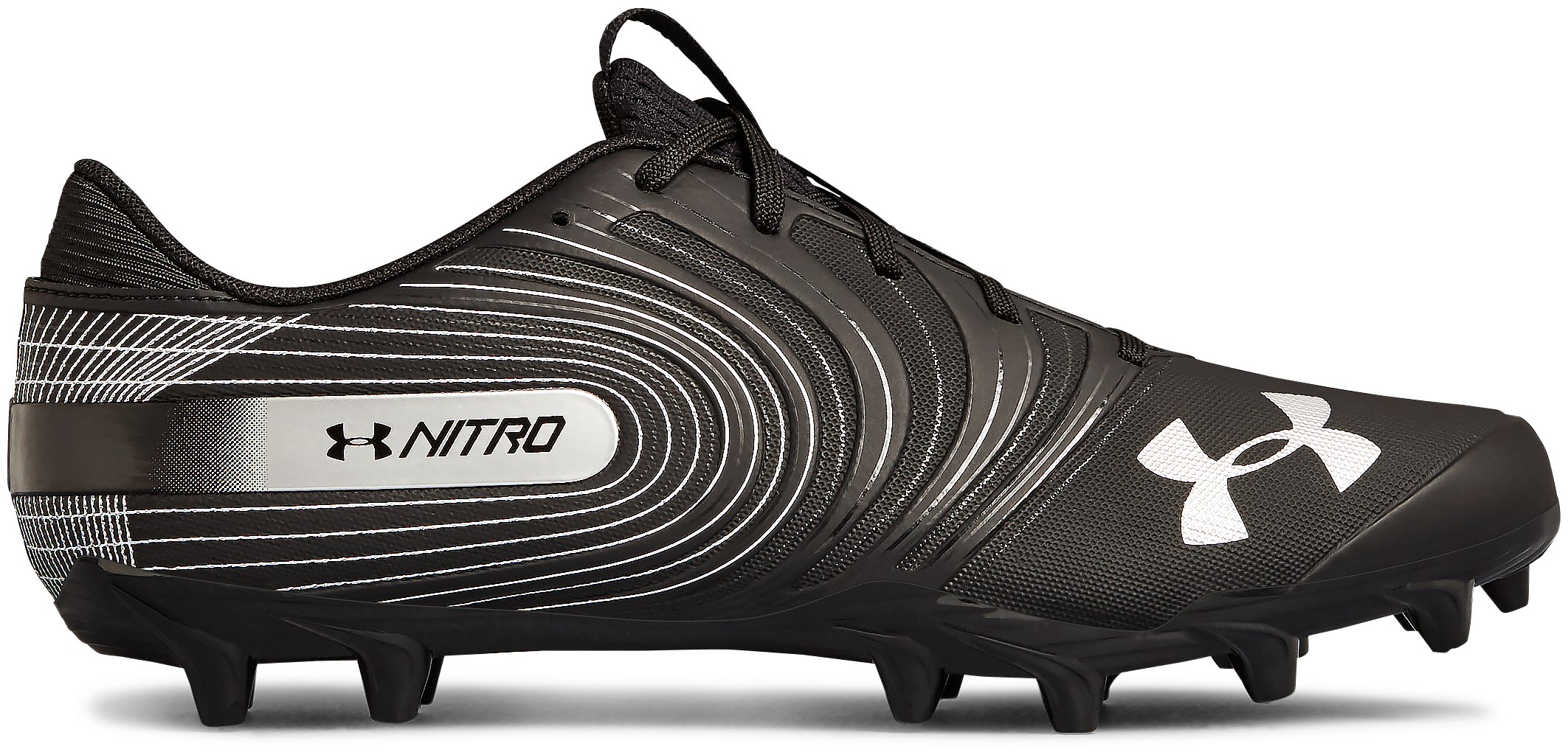 Men's UA Nitro Low MC Football Cleats, Black ,