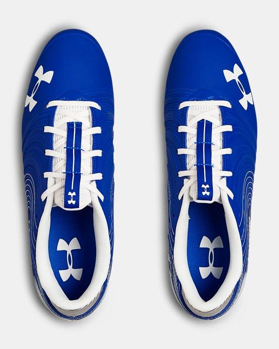 Men's UA Nitro Low MC Football Cleats, Blue, pdpMainDesktop image number 3
