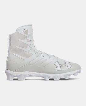 Men s White UA Highlight Cleats Footwear  f3c2e9e94c4a
