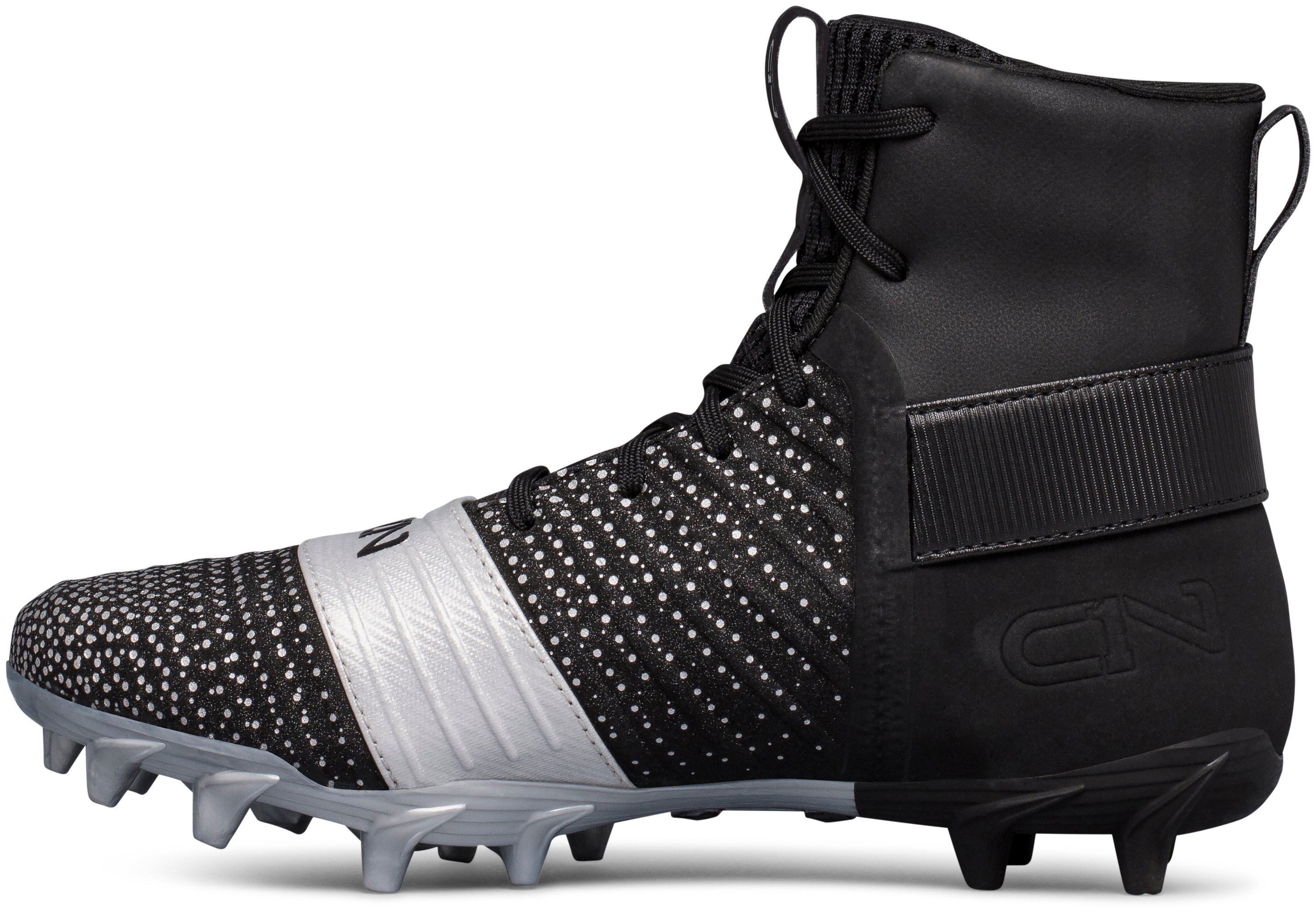 Boys' UA C1N MC Jr. Football Cleats, Black ,