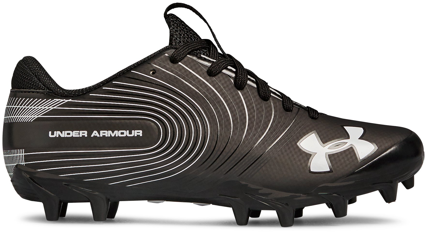 Boys' UA Speed Phantom Jr. Football Cleats, Black ,