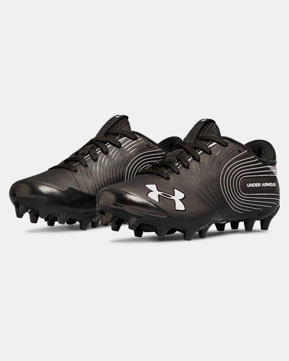 Boys' UA Speed Phantom Jr. Football Cleats, Black, pdpMainDesktop image number 4