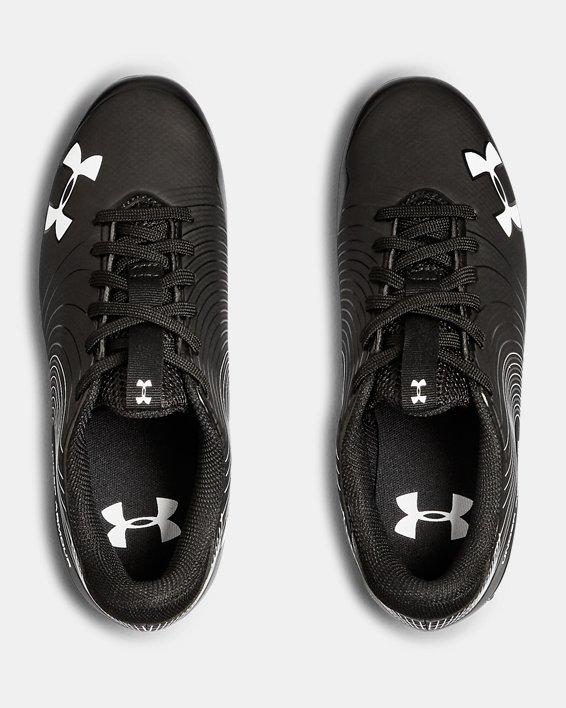 Boys' UA Speed Phantom Jr. Football Cleats, Black, pdpMainDesktop image number 3