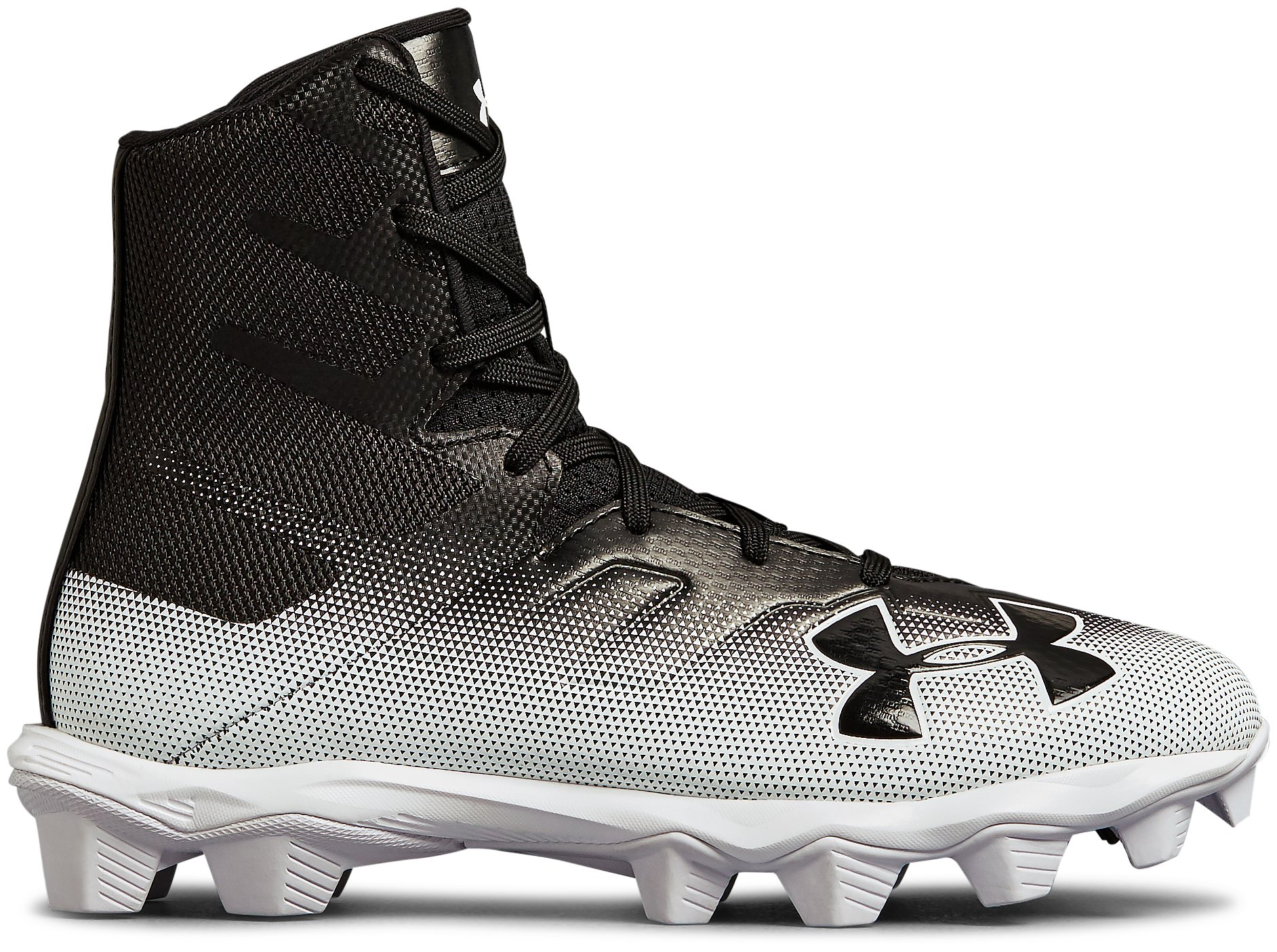 Boys' UA Highlight RM Jr. Football Cleats, Black