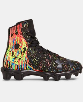 Boys' UA Highlight RM Jr. LE Football Cleats   $60