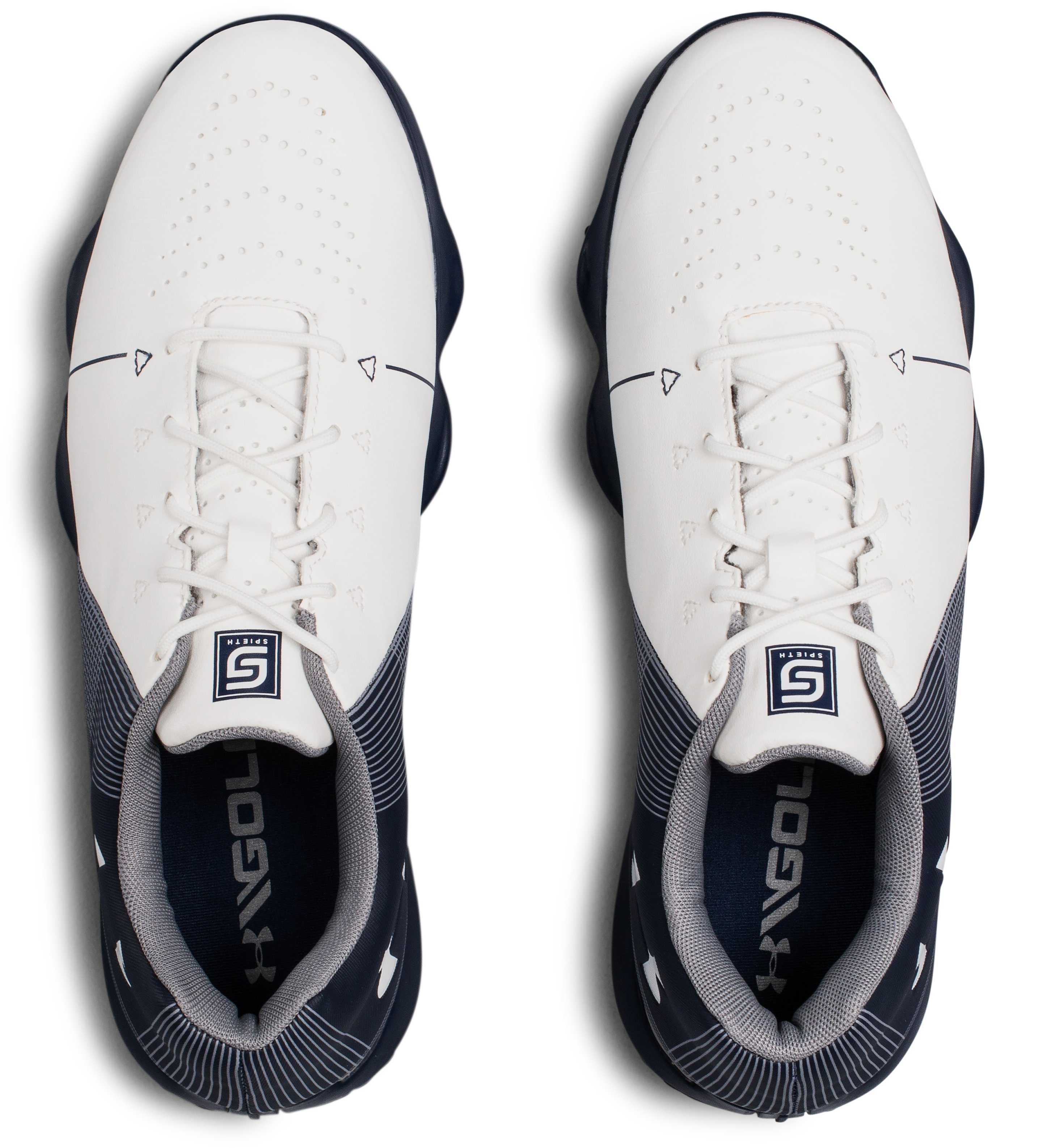 UA Spieth 2 Junior Golf Shoes, White, undefined
