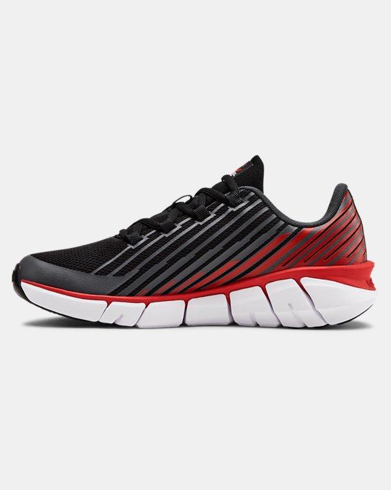 Boys' Grade School UA X Level Scramjet Remix Running Shoes, Black, pdpMainDesktop image number 1