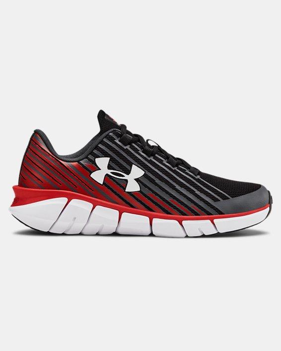 Boys' Grade School UA X Level Scramjet Remix Running Shoes, Black, pdpMainDesktop image number 0