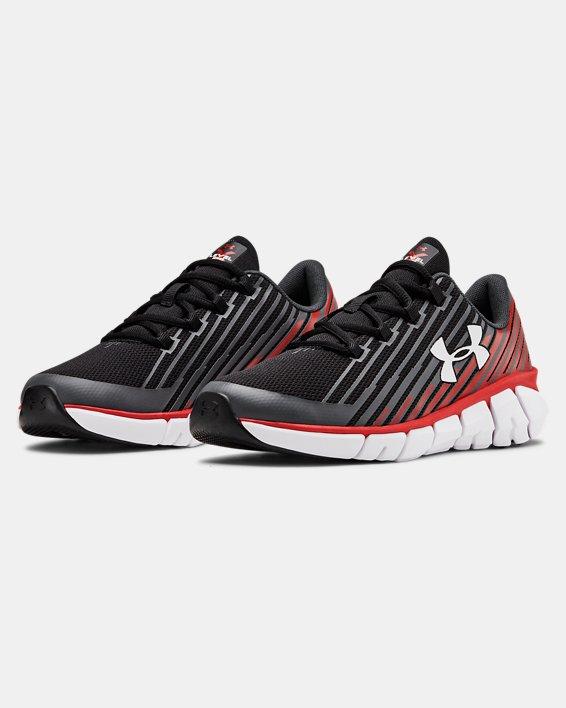 Boys' Grade School UA X Level Scramjet Remix Running Shoes, Black, pdpMainDesktop image number 4