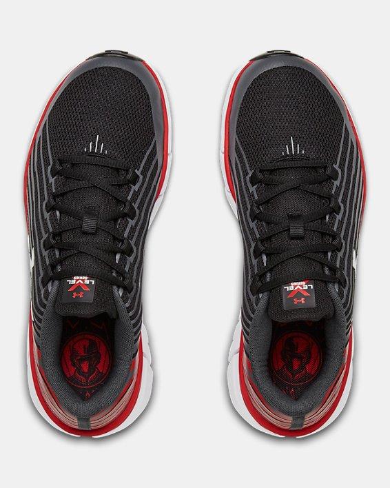 Boys' Grade School UA X Level Scramjet Remix Running Shoes, Black, pdpMainDesktop image number 3