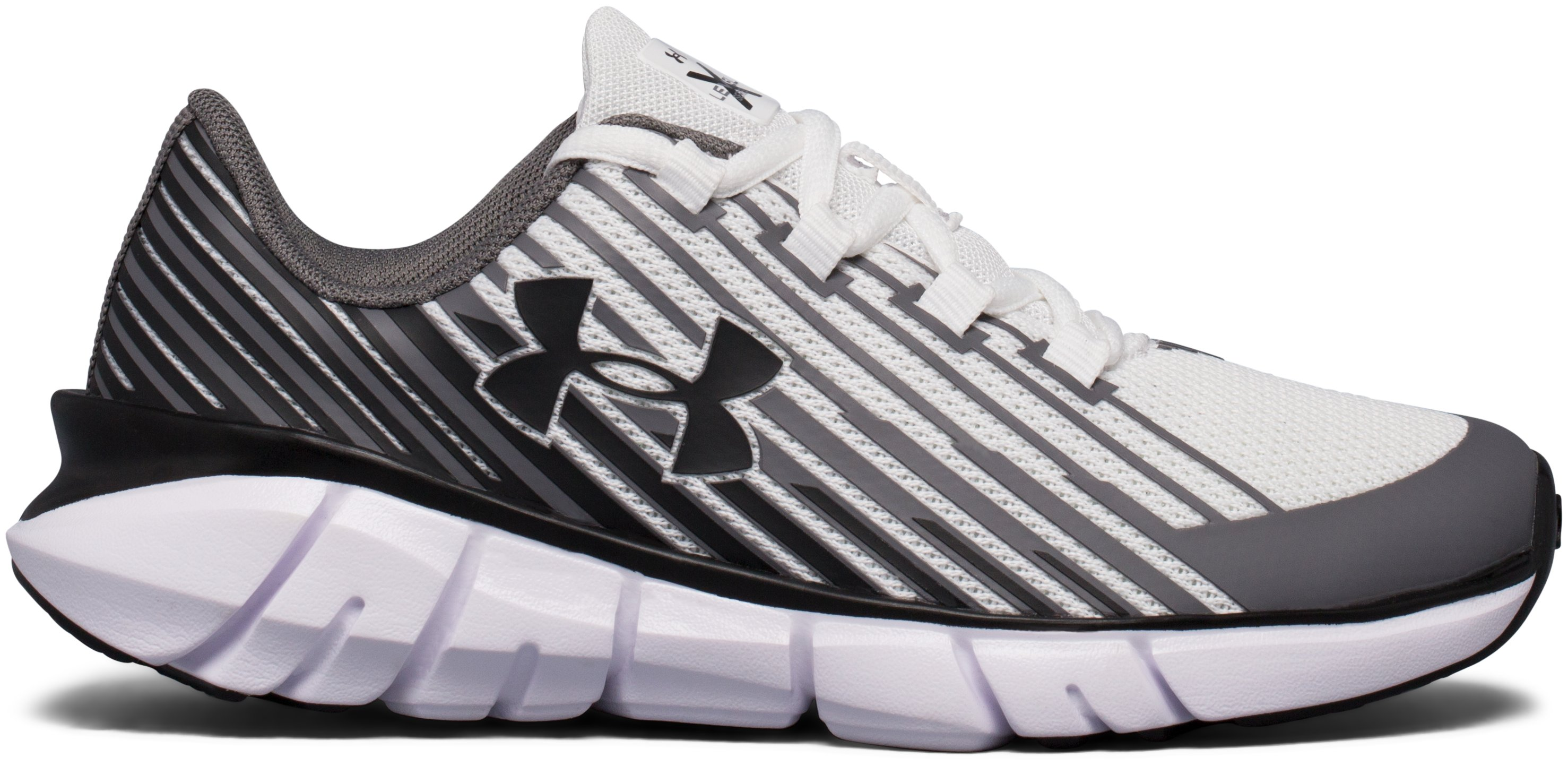 Boys' Pre-School UA X Level Scramjet Remix Running Shoes, White, undefined