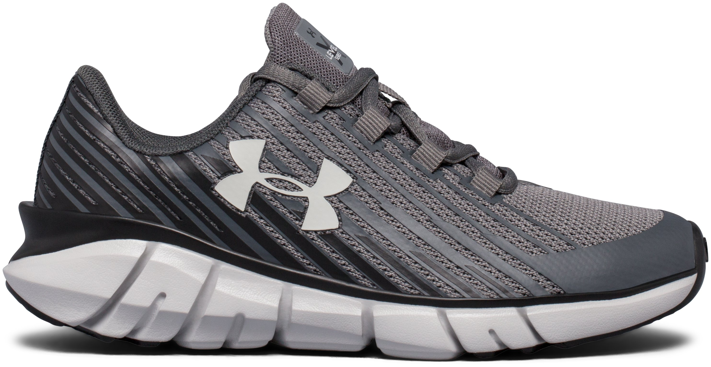 Boys' Pre-School UA X Level Scramjet Remix Running Shoes, Graphite,