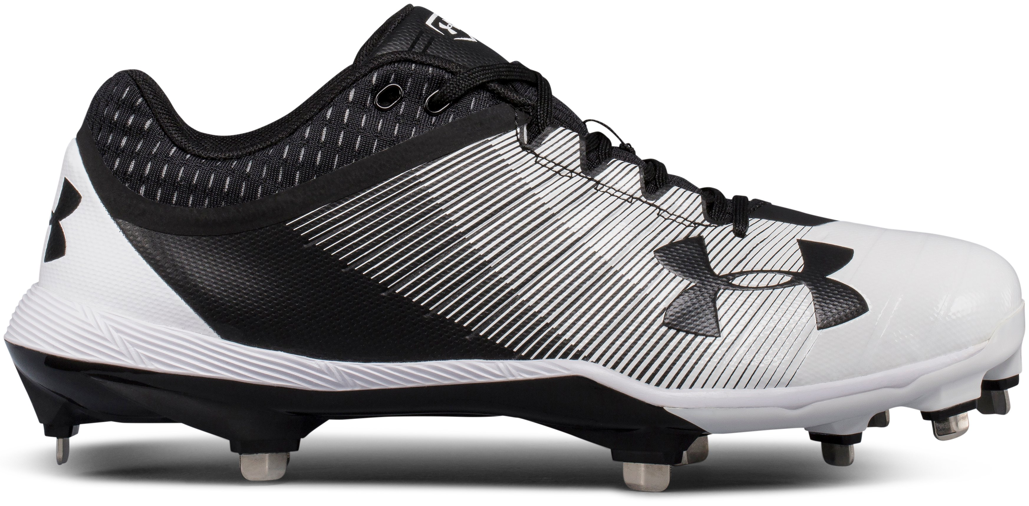 Men's UA Yard Low DiamondTips Baseball Cleats, Black ,