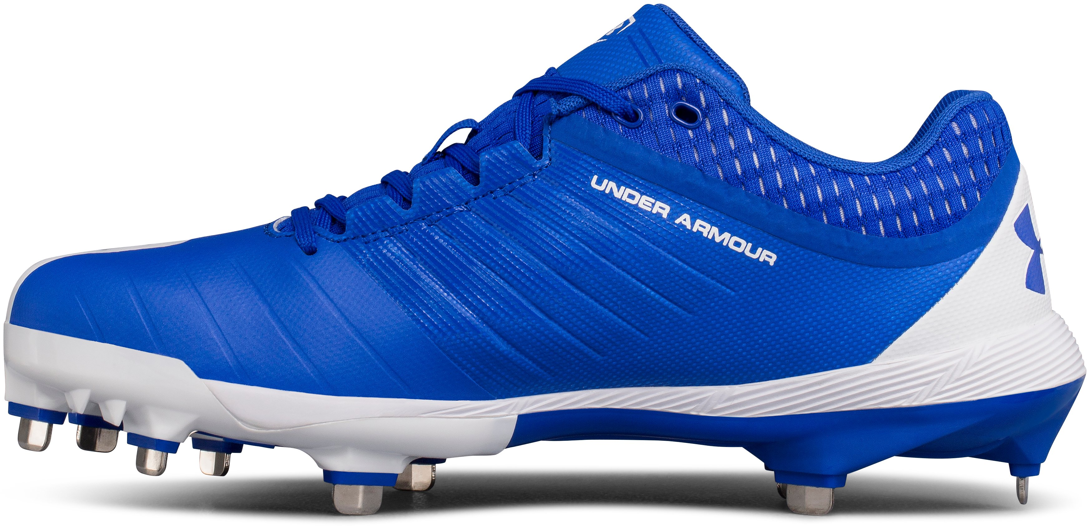 Men's UA Yard Low DiamondTips Baseball Cleats, TEAM ROYAL