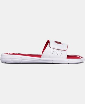 Men's UA Ignite V Collegiate Slides  4 Colors $44.99