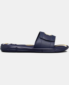 Men's UA Ignite V Collegiate Slides  2  Colors Available $44.99