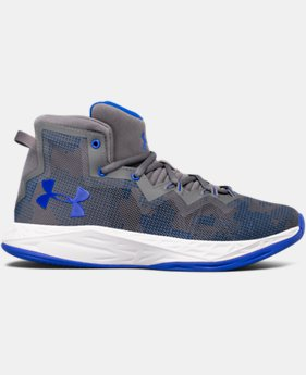 New Arrival Boys' Grade School UA Lightning 4 Basketball Shoes  1 Color $69.99
