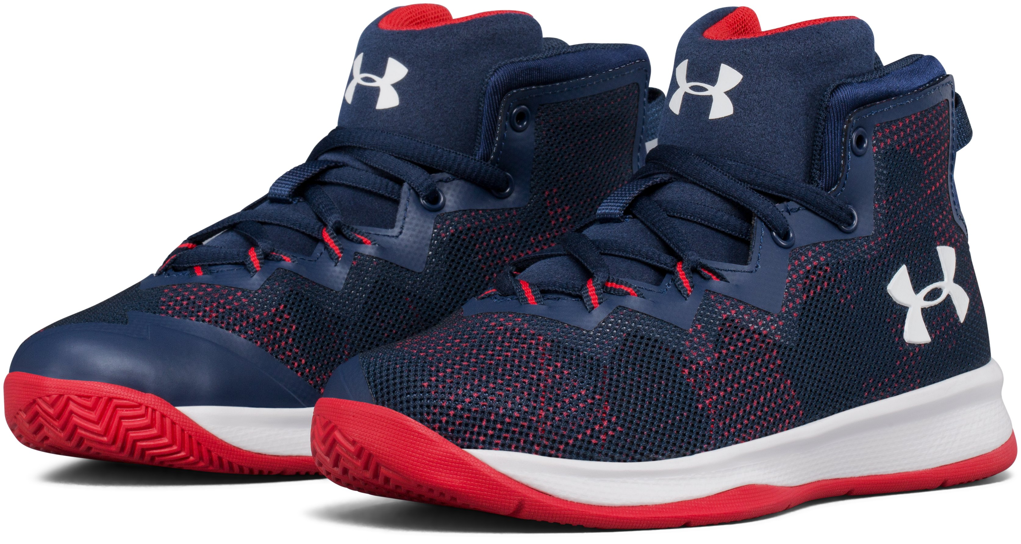 Boys' Pre-School UA Lightning 4 Basketball Shoes, Academy, undefined