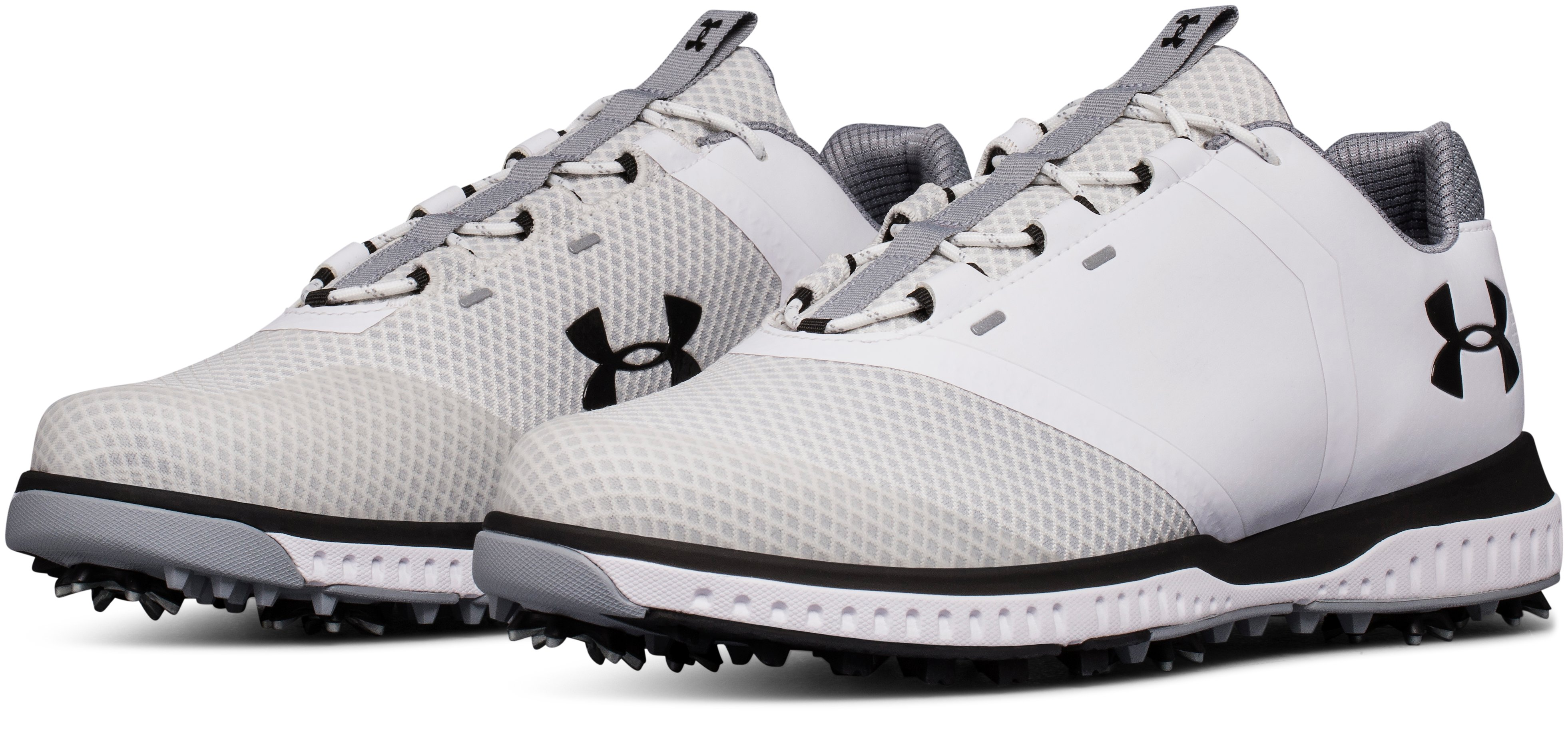 Men's UA Fade RST Golf Shoes, White,