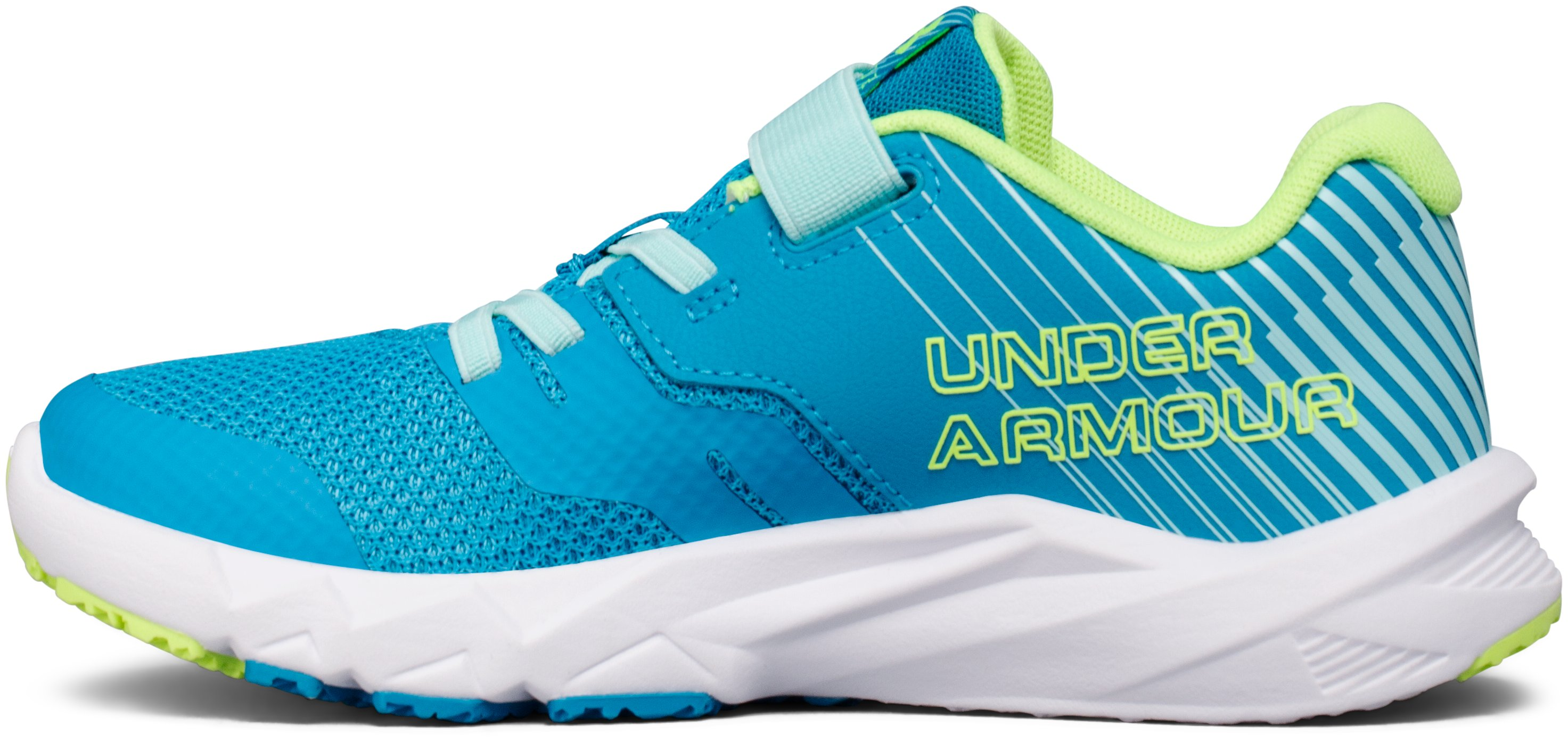 Girls' Grade School UA Primed 2 Running Shoes, BLUE SHIFT,