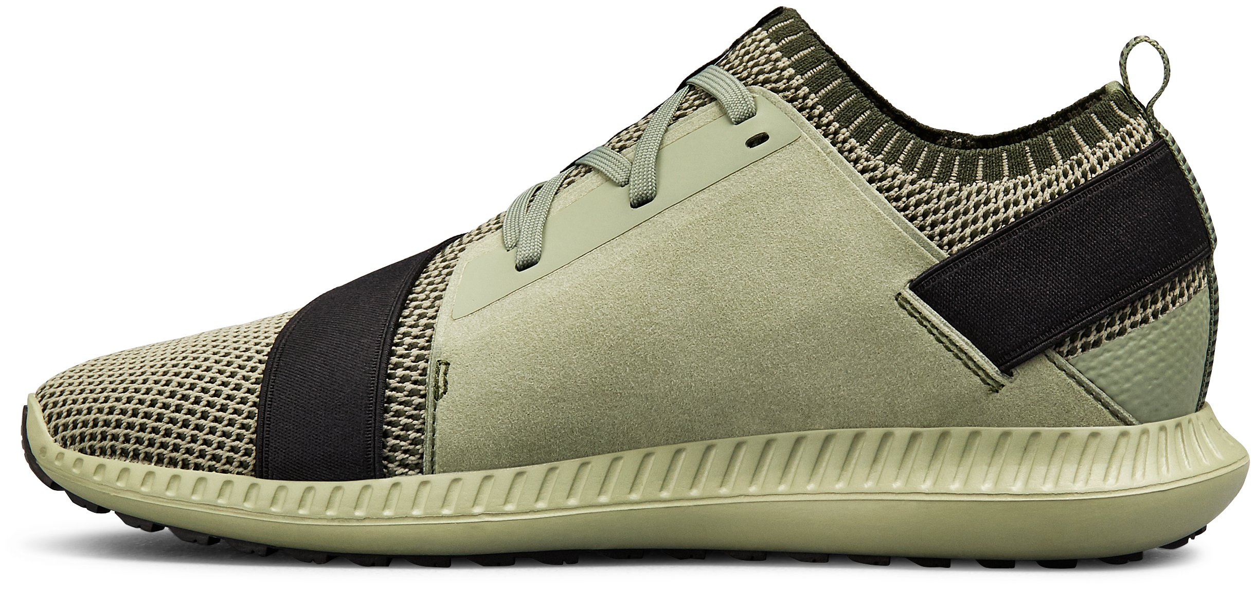 Men's UA Threadborne Shift Heathered Lifestyle Shoes, Moss Green,