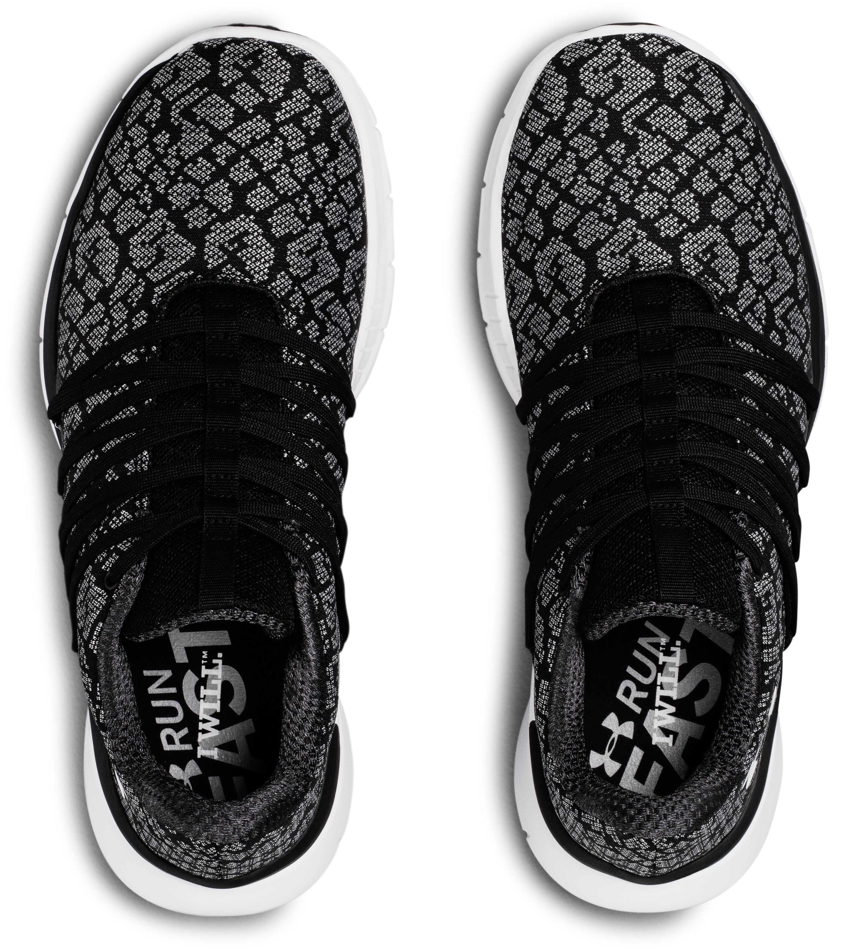 Women's UA Charged Transit Running Shoes, Black , undefined
