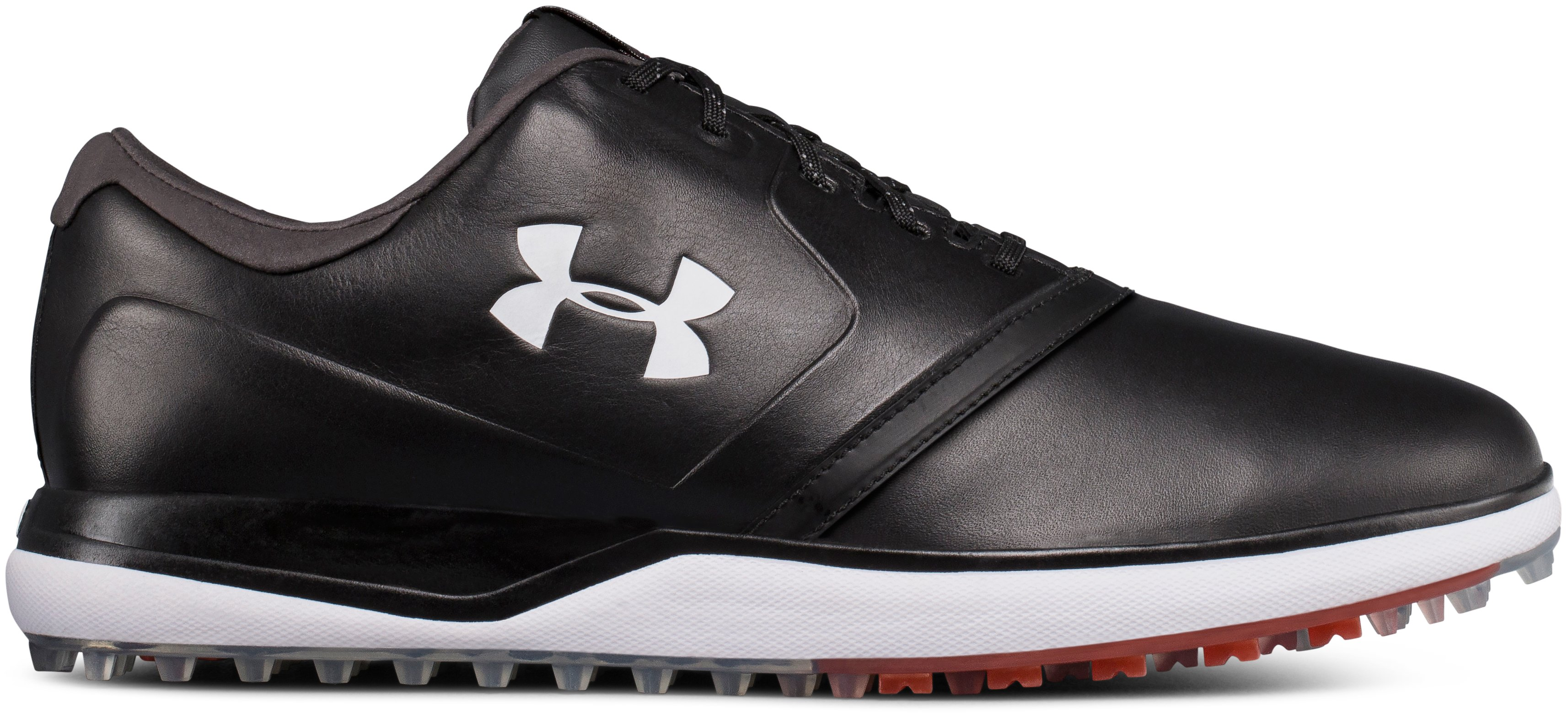 Men's UA Performance SL Leather Spikeless Golf Shoes, 360 degree view