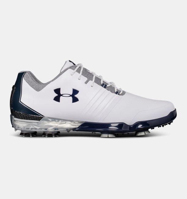 Men's UA Match Play Golf Shoes, White, , White, Click to view full size
