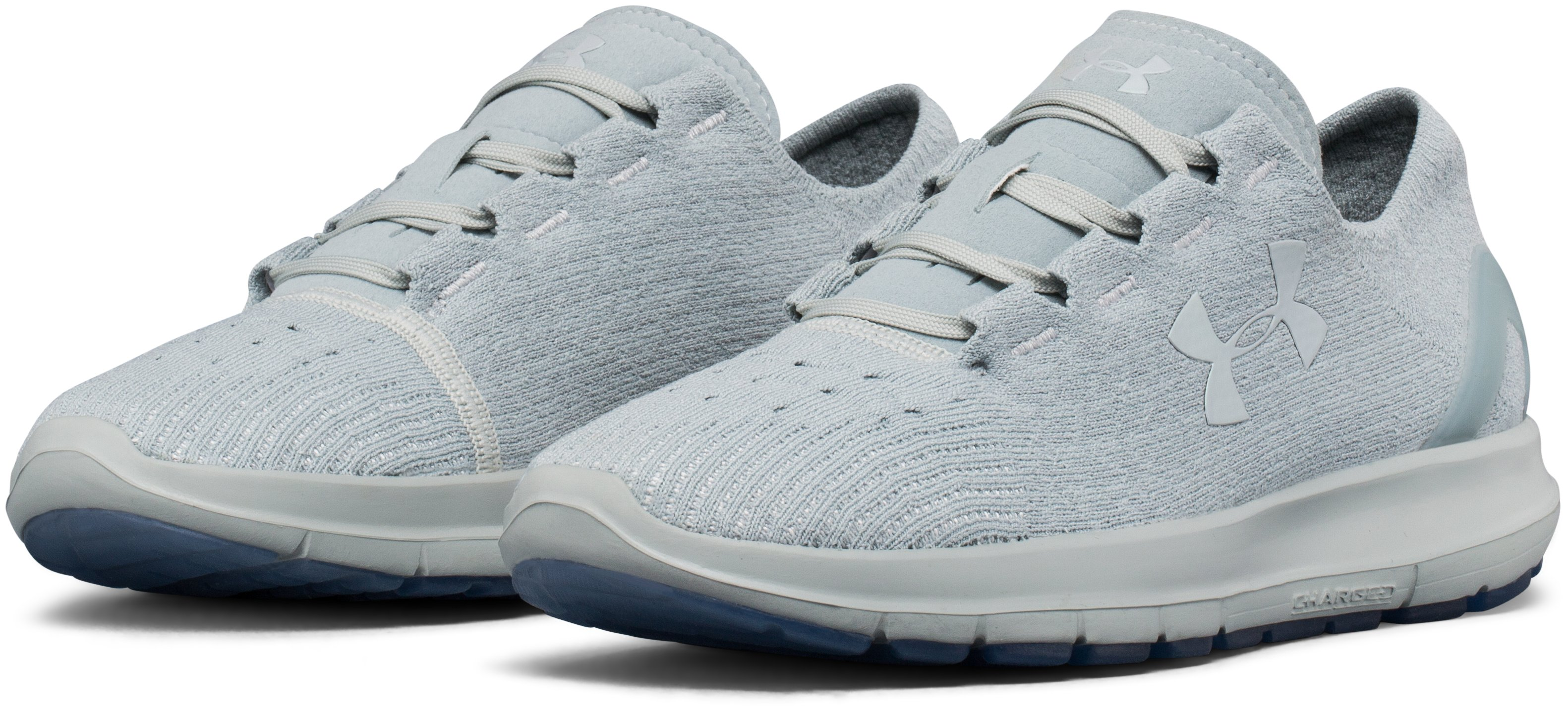 Women's UA SpeedForm® Slingride Neutral Running Shoes, MINERAL GRAY,