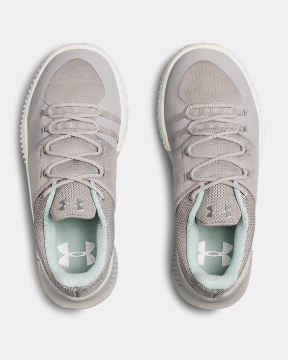 Women's UA Ultimate Speed Training Shoes, Gray, pdpMainDesktop image number 3