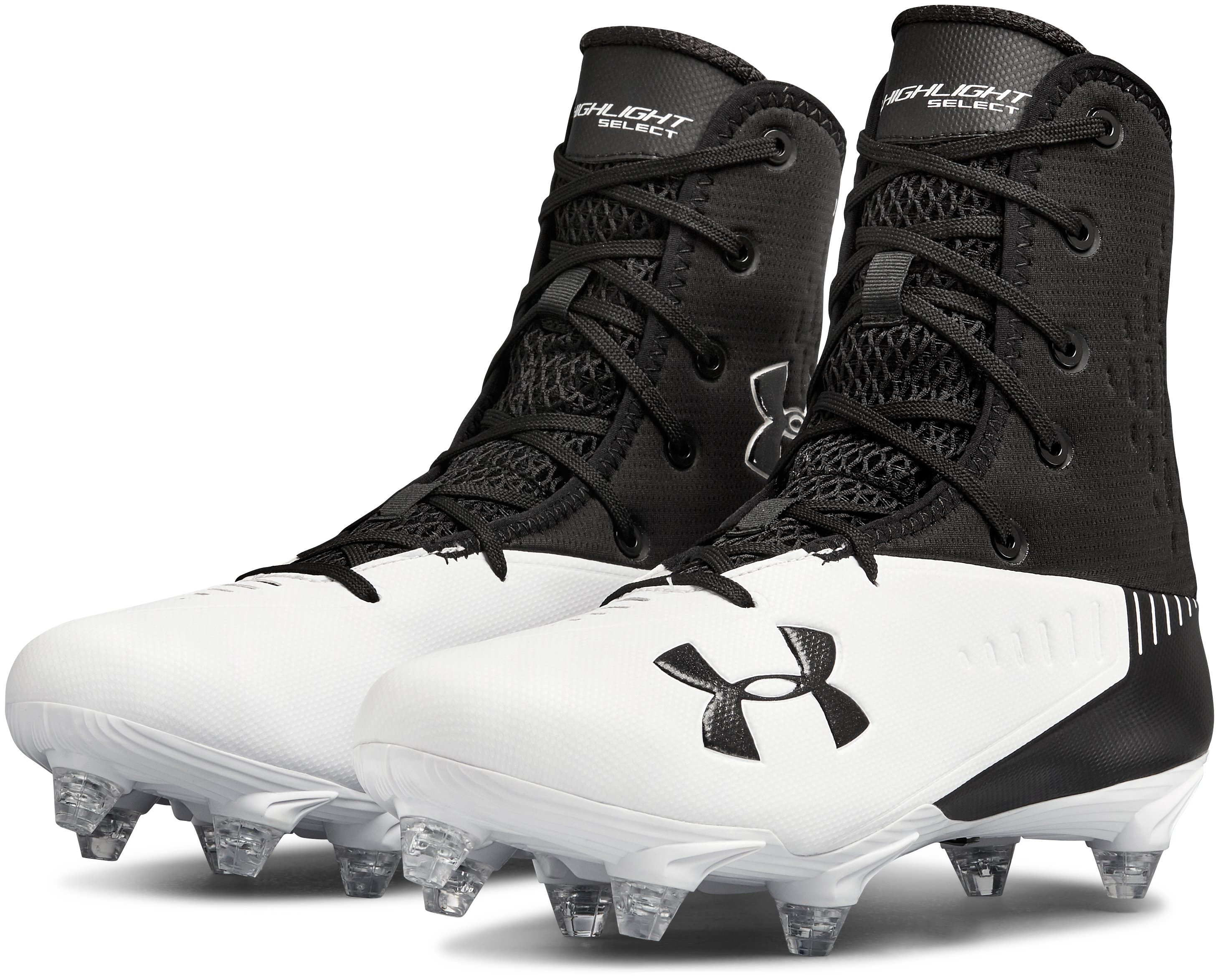Men's UA Highlight Select Detach Football Cleats, Black ,