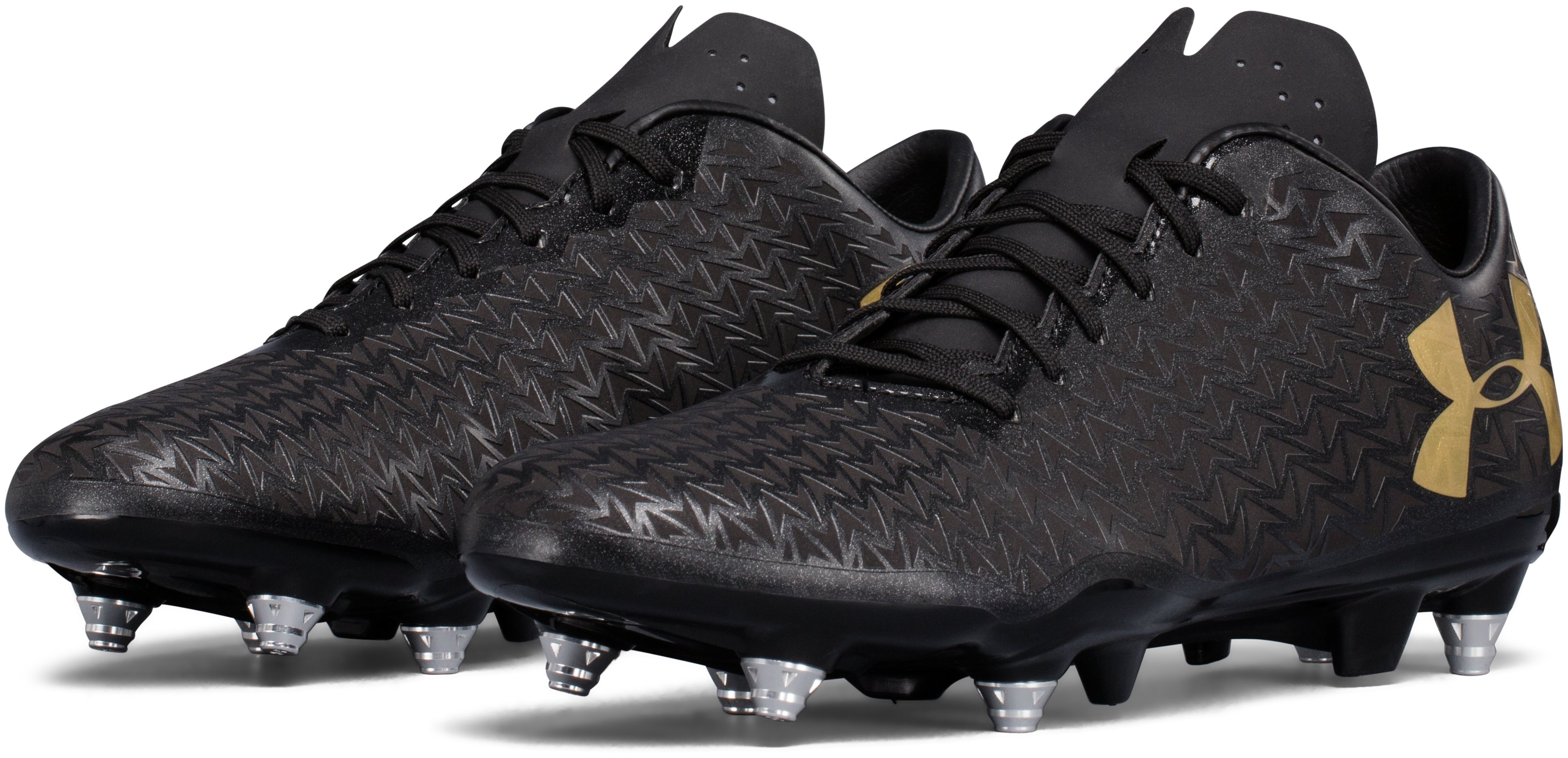 Men's UA CoreSpeed Hybrid Rugby Cleats, Black , undefined